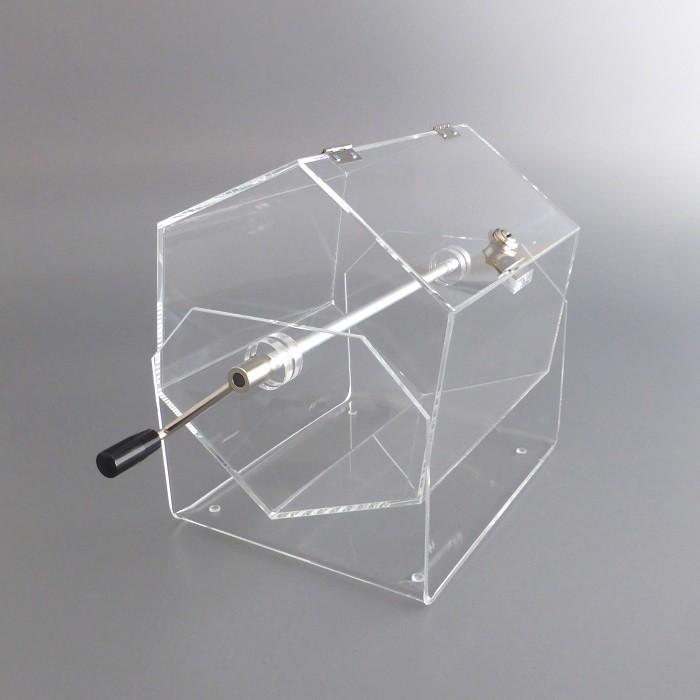 lostrommel losbox lostrommel aus acryglas losbox aus acrylglas. Black Bedroom Furniture Sets. Home Design Ideas