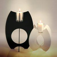 Kerzenhalter Black & White